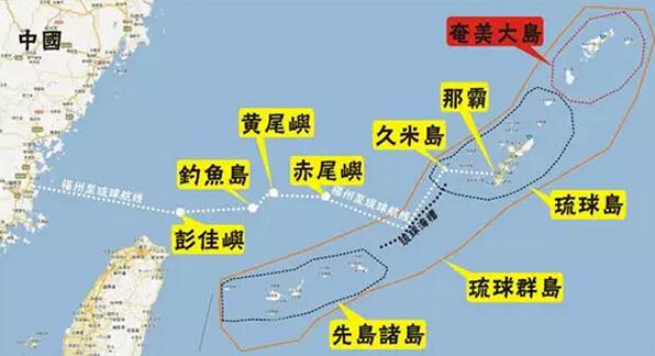 琉球群岛位置
